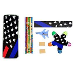 Thin Blue Line Foundation Stationery Set with Plastic Pencil