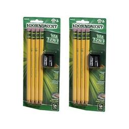 Dixon Ticonderoga 33309 8 Count Large Size Pencil Kit With 2