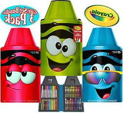 Crayola Tip Art Kits Scarlet,Electric Lime &Turquoise Gift S