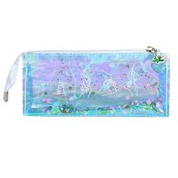 Pausseo Transparent Student Storage Pencil Pen Case School S