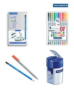 Staedtler Triplus Fineliner 0.3mm Porous Point Pen set 10 As
