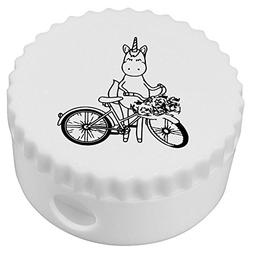 Azeeda 'Unicorn With Bicycle' Compact Pencil Sharpener