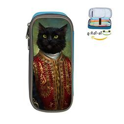 Vintage Cat Pen Case - Pen Pencil Case Large Capacity Statio