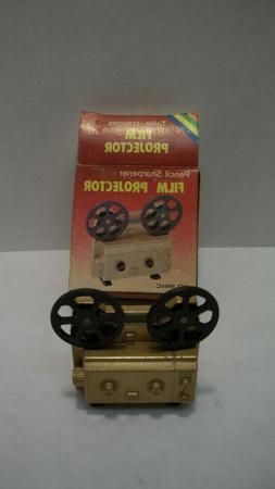 Vintage Diecast Gold Color Movie Projector Pencil Sharpener