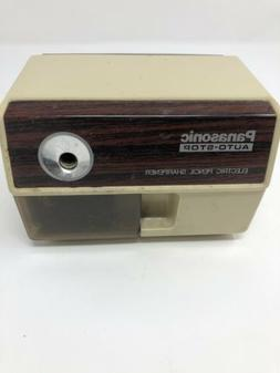 Vintage Panasonic Electric Pencil Sharpener Auto-Stop 1980's