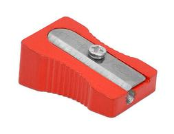 VINTAGE KUM 491D METAL-COLOR RED MAGNESIUM PENCIL SHARPENER