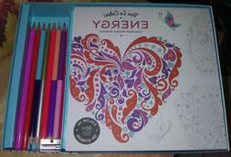 VIVA LE COLOR!  ENERGY Coloring Book and Pencils.  Pencil