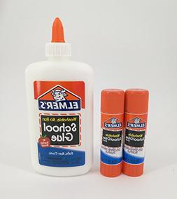Elmer's Washable Liquid School Glue and Disappearing Purple