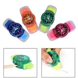 Watches Sliced Pencil Sharpener With Erasers Brush for Offic