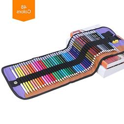 Watercolor Pencils Set – 48 Water Soluble Artist Colored P