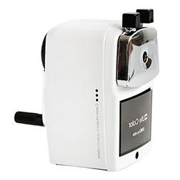 Baidecor White Metal Manual Pencil Sharpener Hand-Cranking