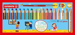 STABILO Woody 3-in-1 Multi-Talented Pencil with Sharpener an
